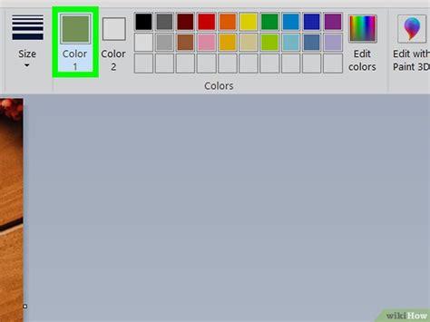 как использовать замену цвета в ms paint