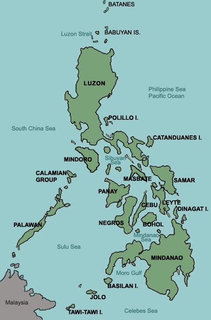 map  philippines  islands labeled learn
