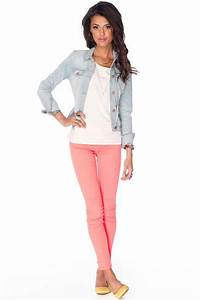 Casual colored jeans outfit u2013 Long Hairstyles How To