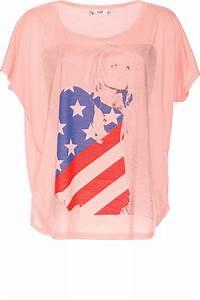 Tee Shirt Ete Femme : tee shirt rose pour femme avec imprim drapeau am ricain fashion v tements femme 2628 ~ Melissatoandfro.com Idées de Décoration