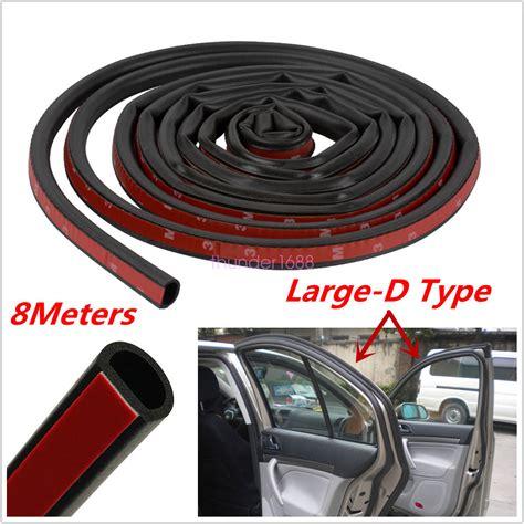 Car 8m Dshape Rubber Door Window Seal Strip Roll