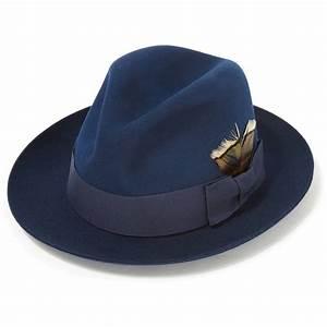 Kempton Fur Felt Trilby Ink Blue  Summer Hats