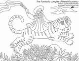 Coloring Pages Gypsy Rousseau Sheets Printable Adults Print Henri Jungles Fantastic sketch template