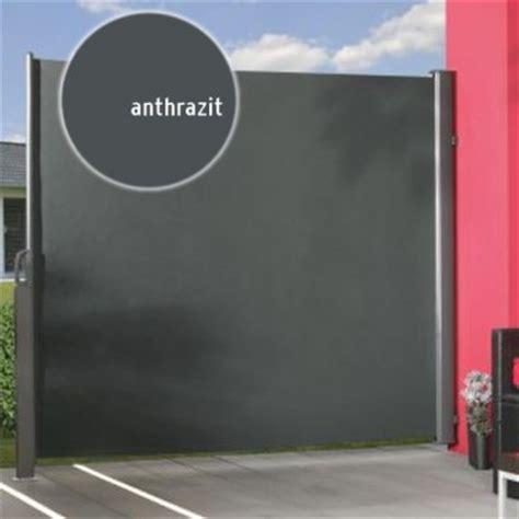 Seitenmarkise 180 X 350 by Seitenmarkise Zum Ausziehen 180 X 350cm Farbe Anthrazit
