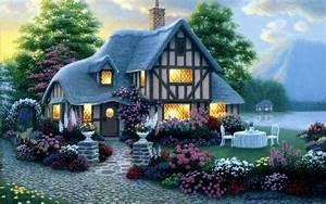 House Lights Garden Flower Sea wallpapers