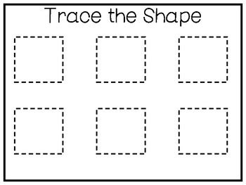 5 all about the shape square no prep tracing preschool worksheets and activities