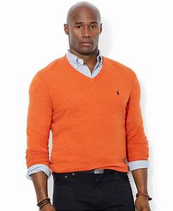 Polo V : lyst polo ralph lauren big and tall merino wool v neck sweater in orange for men ~ Gottalentnigeria.com Avis de Voitures