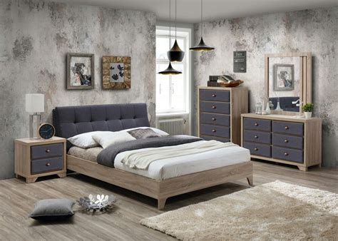 Bed Furniture Sets by 3376 Grey Fabric Beech Bed Matching Furniture Sets