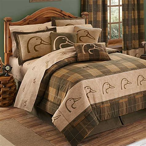 ducks unlimited plaid comforter set twin size blanket