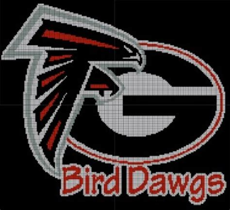 georgia bulldogs atlanta falcons love them black birds