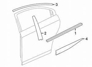 Chevrolet Cruze Door Belt Molding  Rear  Upper   Bright
