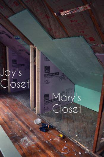 add closets  attic knee wall attic renovation