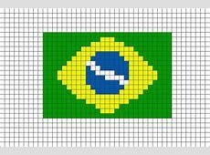 Flag of Brazil Pixel Art Cosas variadas Bandera de