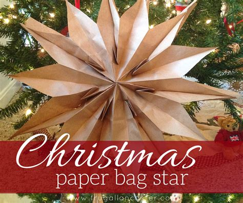 diy christmas paper bag star  quick ten minute craft