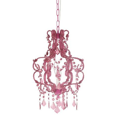 lustre pour chambre bébé lustre à pilles fuchsia h 41 cm princesse maisons du