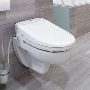 Wc Mit Bidet : aquatec pure bidet wc aufsatz mit wascheinrichtung mit ~ Lizthompson.info Haus und Dekorationen