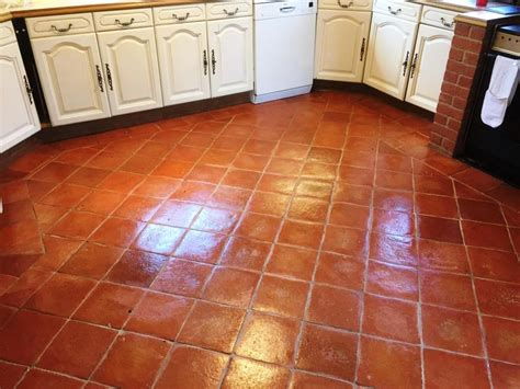 terracotta tiles and grout cleaned and sealed in