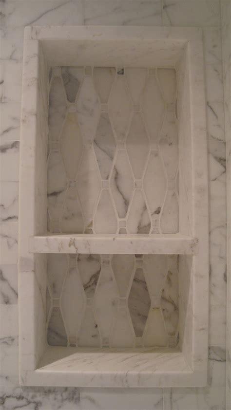 shower niche shower niche pattern change showers pinterest