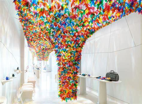 flowers softlab creates  hanging garden