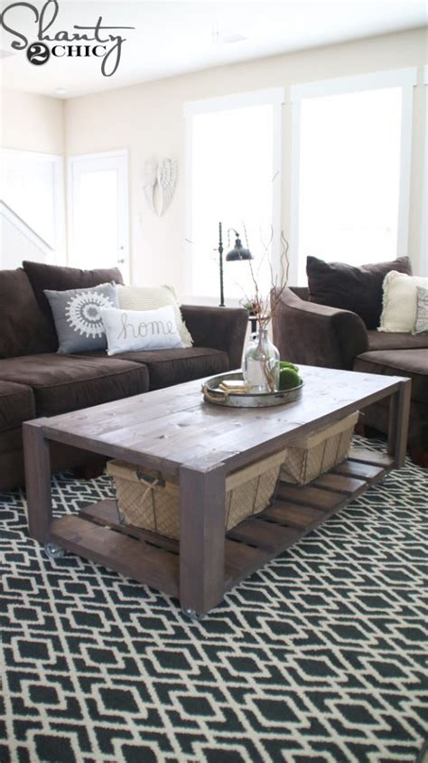 shanty 2 chic coffee table diy crate coffee table on wheels shanty 2 chic