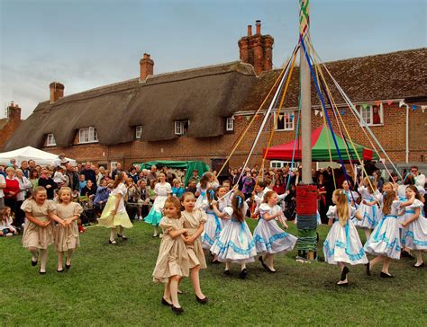 Children Perform The Maypole Dance At The 2010 Downton Cuc