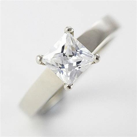 seagull gifts 9ct white gold jewelry cubic zirconia wedding engagement 3 ring