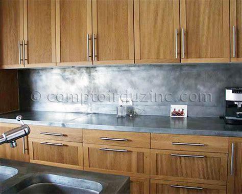 plan de travail en zinc pour cuisine plan de travail crédence en zinc cuisines cuisine
