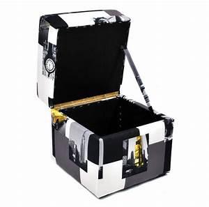 Repose Pied Coffre : pouf cube coffre de rangement new york 40x40cm repose pieds moderne fortisline ~ Teatrodelosmanantiales.com Idées de Décoration