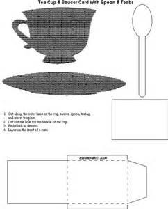 Tea Cup and Saucer Template