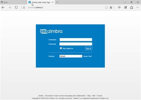 web windows 7 zimbra collaboration web client in windows 10 microsoft