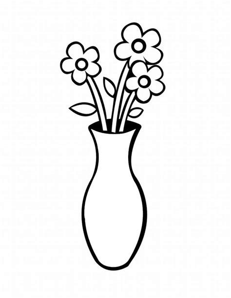 vasi di fiori da colorare sta disegno di vaso con fiori da colorare