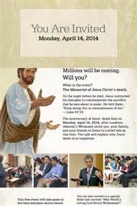 Memorial Invitation JW Jehovah 2017