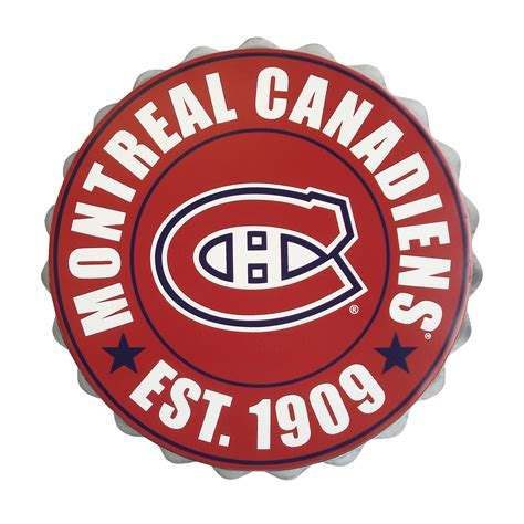 collectibles montreal canadiens bottle cap wall logo