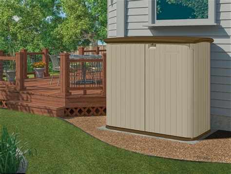 Suncast Horizontal Utility Shed 20 Cu Ft by Suncast 32 Cu Ft Horizontal Storage Shed Lawn Garden
