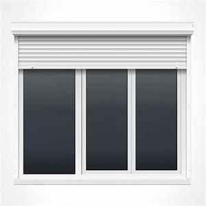 porte fenetre pvc 3 vantaux vitrage phonique ou thermique With porte fenetre pvc avec volet roulant