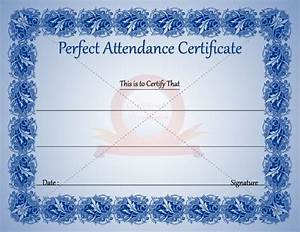Perfect Attendance Certificate Template 17 Best Images About KIDS CERTIFICATE TEMPLATES On Pinterest Kid It Is And Church
