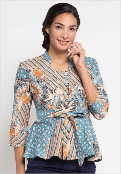 model baju batik terbaru  kombinasi atasan