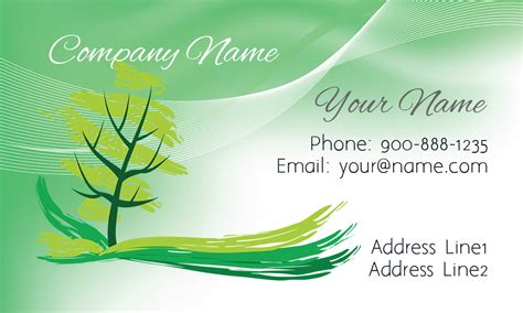 Tree Landscaping Business Card