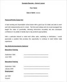 40 blank resume templates free sles exles