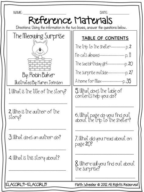 table of contents worksheets for grade 4 saxon math