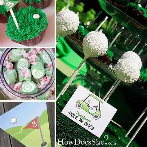 Golf Themed Birthday Party  How Does She