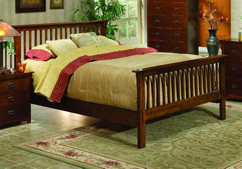 mission style bed bed frame bed frame plans queen size