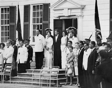 President John F Kennedy  C B George Washingtons Mount Vernon