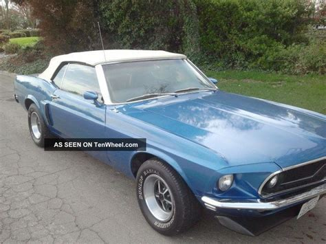1969 mustang convertible 302 auto california built car in