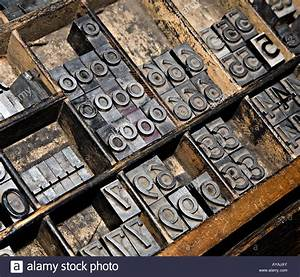 hot metal type for printing press stock photo royalty With press type lettering