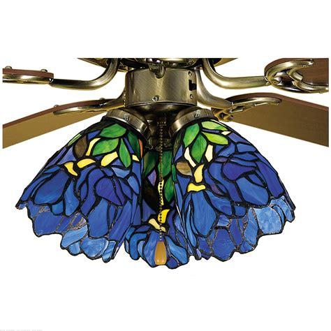 fan light shades meyda 5 quot w iris fan light shade ceiling fixture