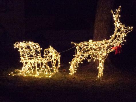 reindeer sleigh lawn decorations for christmas reindeer pulling sleigh lighted