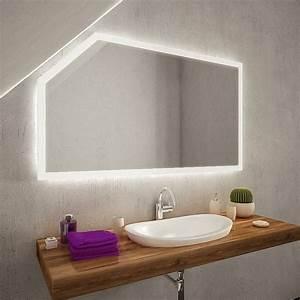 Spiegel Mit Schräge : cuarto led badspiegel mit dachschr ge online kaufen ~ Michelbontemps.com Haus und Dekorationen