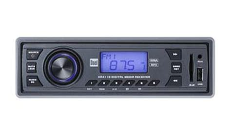 dual xr4110 in dash mp3 wma am fm receiver with front panel usb sd card and 3
