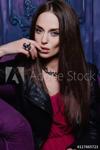 Sexy And Seductive Brunette Stock Photo And Royalty Free